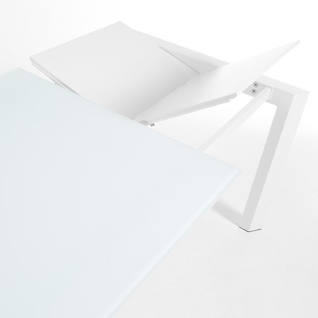 Eettafel Wit Design.Laforma Eettafel Atta Verlengbaar 120 Tot 180 Cm Wit Gehard Glas